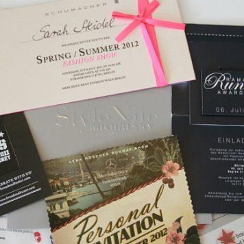 Fashion Week Berlin Einladungen