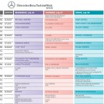 Mercedes-Benz Fashion Week Berlin Schauenplan