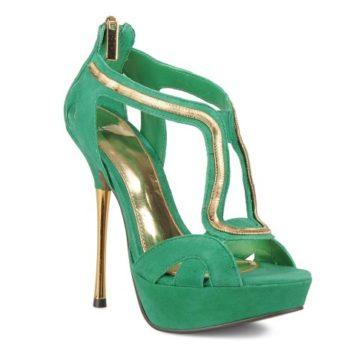 Grüne Sandale von Carvela