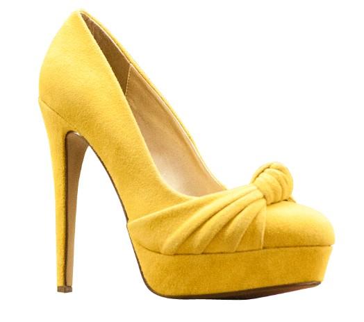 Gelber Schuh aus der mirapodo Werbung