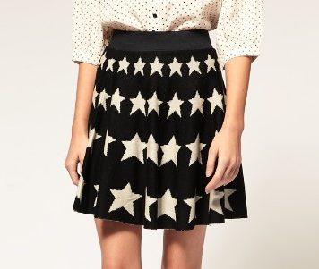 Strickrock mit Sternenprint