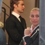 Chace Crawford am Set von Gossip Girl