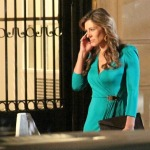 Liz Hurley am Set von Gossip Girl