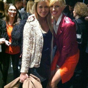 Mit Karolina Kurkova Backstage bei der Michalsky StyleNite