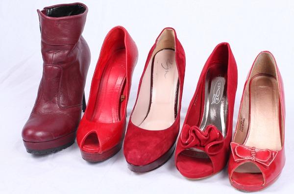 Damenschuhe rot pumps