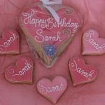 Pinkfarbene Geburtstagsgrüße