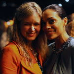 Mit Rosario Dawson in Paris