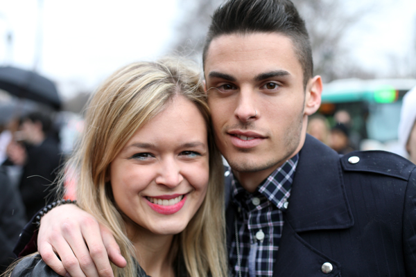 Mit Baptiste Giabiconi in Paris