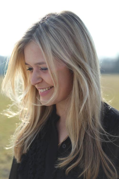 Vordere Strähnen Blond