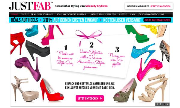 JustFab.de ist online!
