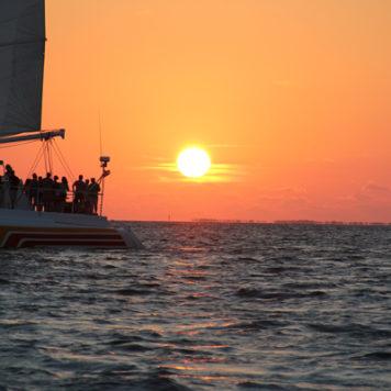 Der Sonnenuntergang auf Key West