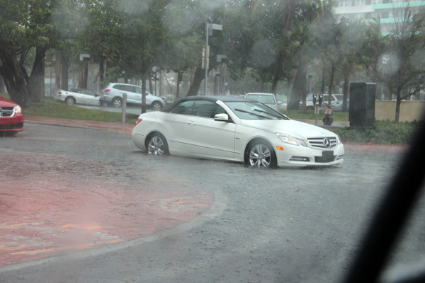 Regen in Miami