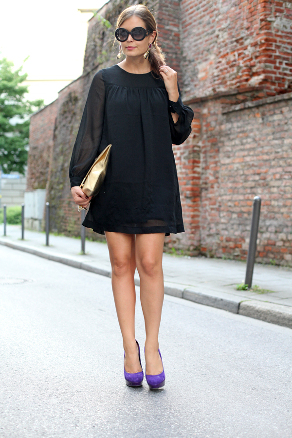 Kleid schwarz zara