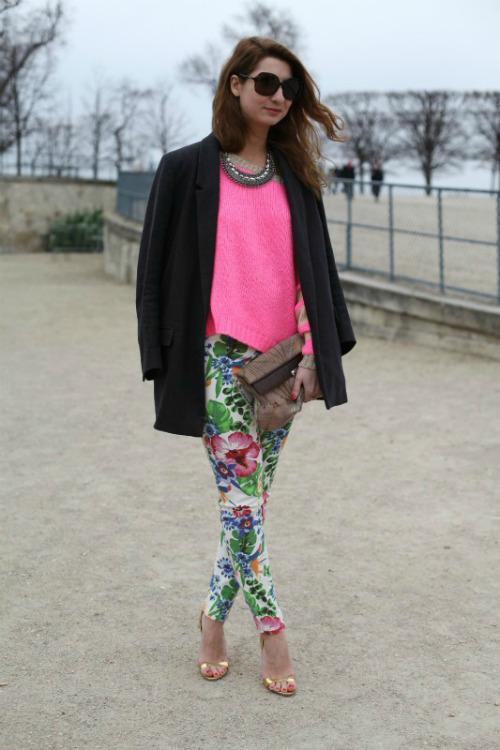 In love with floral print trousers!
