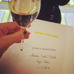 Waiting for the Louis Vuitton show