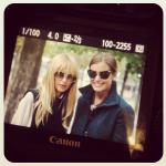 With Rachel Zoe in Paris