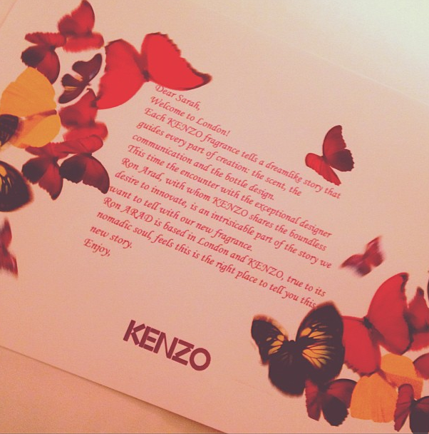 Sneak Preview: In London with Kenzo