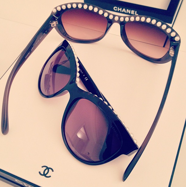 Chanel Spring/Summer 2013: Pearled sunglasses