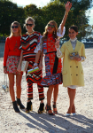 Paris Fashion Week: Picture of the day - Lena, Anna and Miroslava