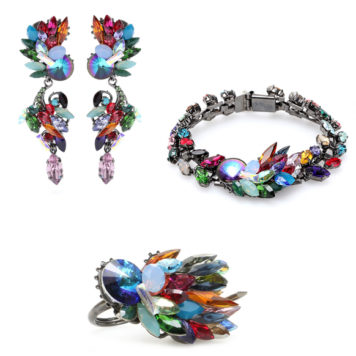 Crystal beaded jewelry by Erdem