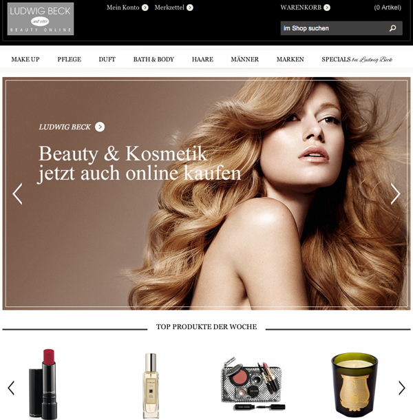 Ludwig Beck Beauty Online Shop