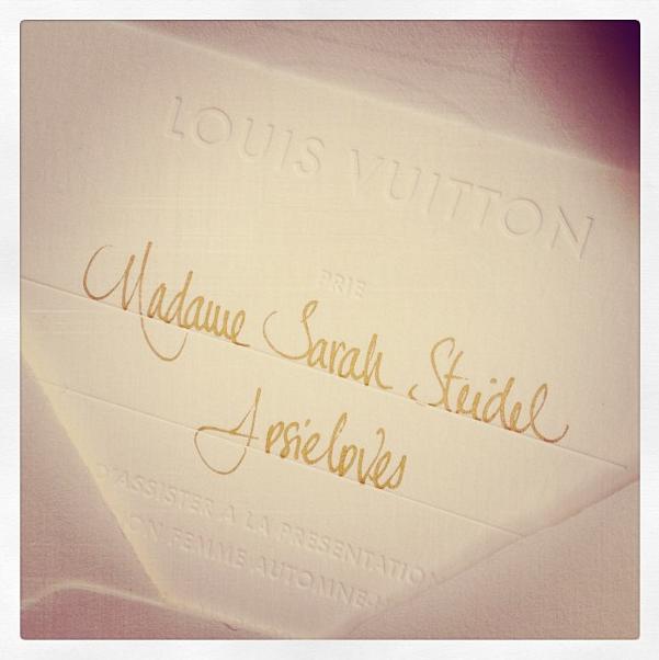 Louis Vuitton Invitation
