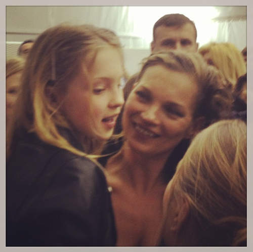 Paris Fashion Week: Kate Moss and Marc Jacobs Backstage at Louis Vuitton