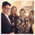With Sascha, Frank and Katja at the Louis Vuitton Maison Openin Party