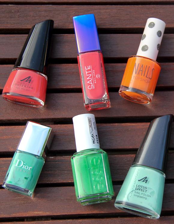 Nail Polish Favorites: Orange versus Green