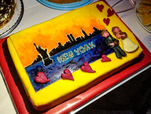 Unsere Hochzeits (New York) Torte