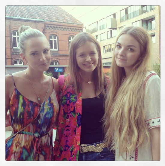 Mit Anne und Isabella in Hamburg.