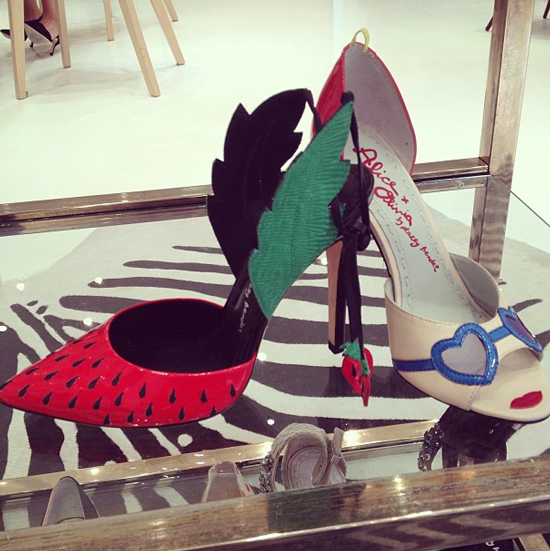 Alice and Olivia Strawberry-Heels