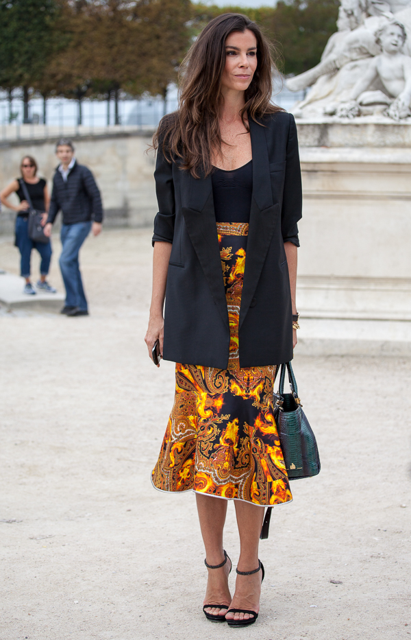 Street Style Trend In Paris Blazer Josie Loves