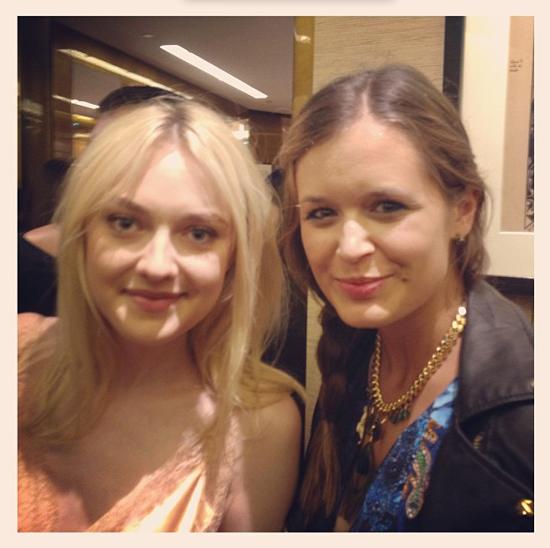 Mit Dakota Fanning bei Louis Vuitton