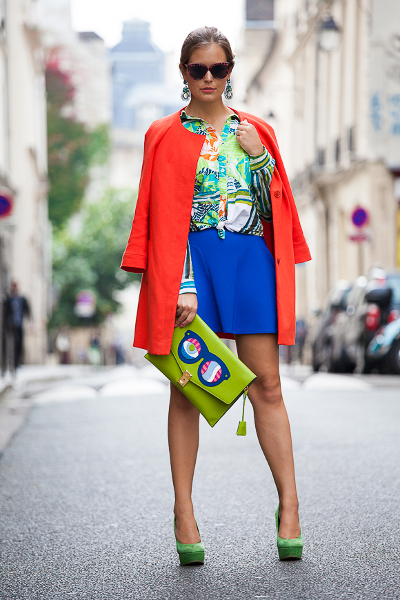 Paris Fashion Week: Outfit of the day - Bunt, bunter am buntesten
