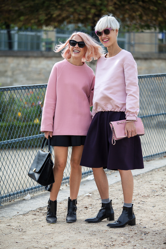 Street Style Trend in Paris: Rosa!