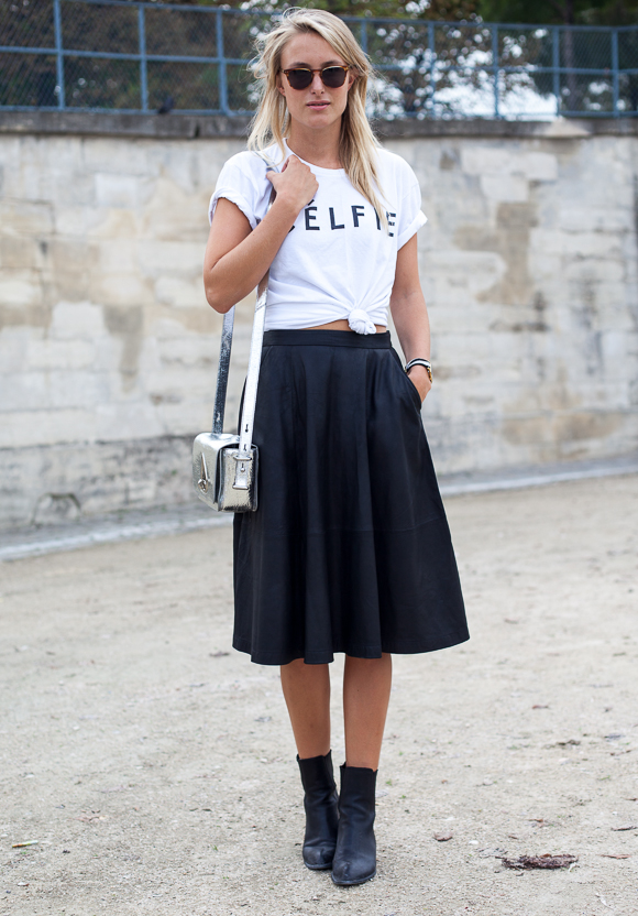 Paris Fashion Week Street Style Trends Black Meets White