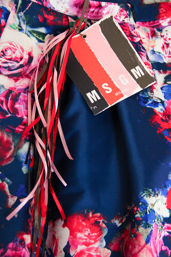 New In: MSGM Rock mit Blumenmuster