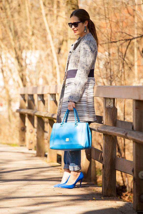 Mein blauer SIR OLIVER Mantel im Frühlings-Styling