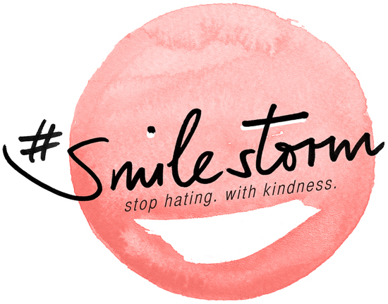 Der GLAMOUR #smilestorm: Stop Hating. With kindness