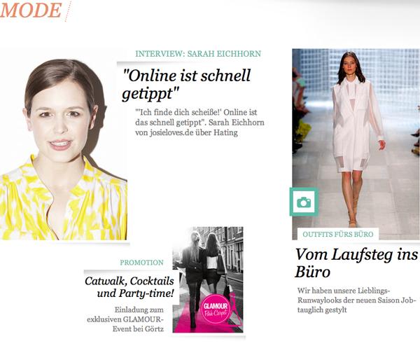 #Smilestorm: Mein Interview auf Glamour.de
