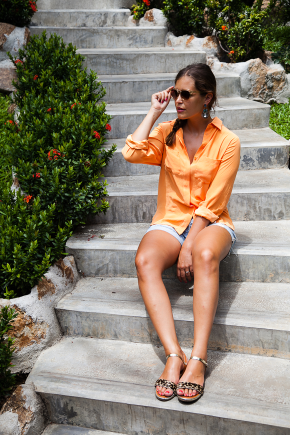 Cameo Blouse Orange