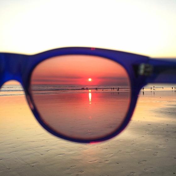 Sonnenuntergang Seminyak Beach