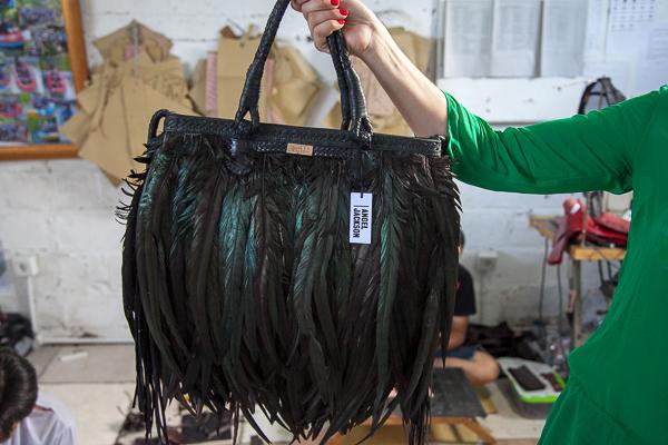 Angel Jackson Feather Bag Gossip Girl