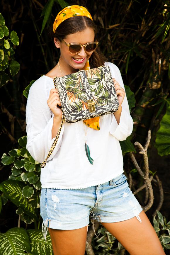 Angel Jackson Palm Print Bag