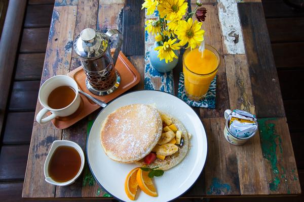 Pancakes Breakfast auf Bali