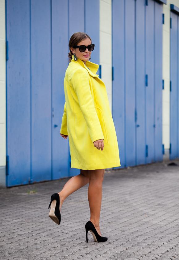 Laurel Mantel gelb Winter 2014