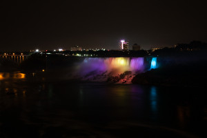 American Falls Light Show