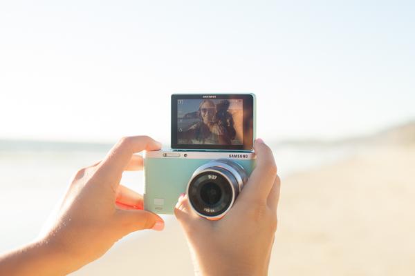 Am Strand von Dana Point mit meiner neuen Samsung NX mini
