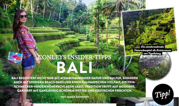 Meine Bali-Tipps im neuen Conleys-Magazin